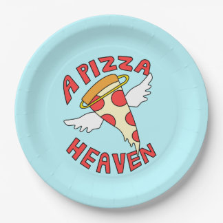 A Pizza Heaven Paper Plate