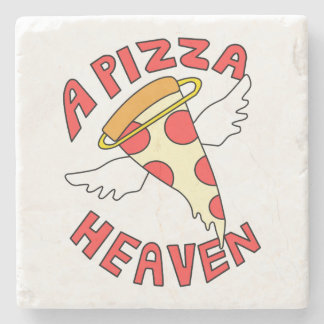 A Pizza Heaven Stone Coaster