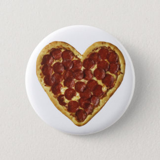 "A ""Pizza"" My Heart 6 Cm Round Badge"