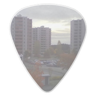 a place in Trondheim White Delrin Guitar Pick