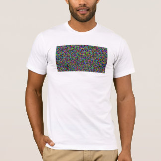 a plain t shirt with simple camouflage pixeled art