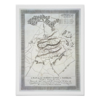 A Plan of the Glorious Battle of Waterloo (engravi Poster