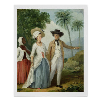 A Planter and his Wife, Attended by a Servant, c.1 Poster