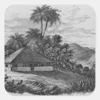 A Planter's House in Brazil Square Sticker