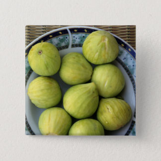 A plate of fresh Mediterranean Figs 15 Cm Square Badge