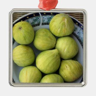 A plate of fresh Mediterranean Figs Christmas Ornament