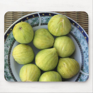 A plate of fresh Mediterranean Figs Mouse Mat