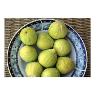 A plate of fresh Mediterranean Figs Photo