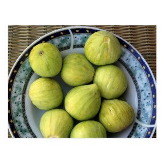 A plate of fresh Mediterranean Figs Postcard