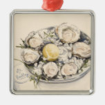 A Plate of Oysters 2012 Silver-Colored Square Decoration