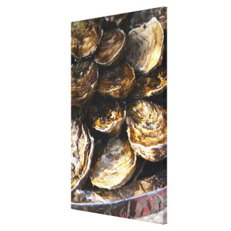 A plate of oysters. canvas print