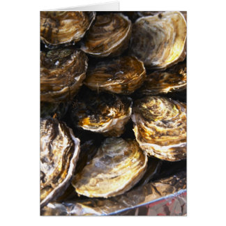 A plate of oysters. card