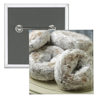 A plate of sugar donuts 15 cm square badge