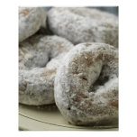 A plate of sugar doughnuts poster