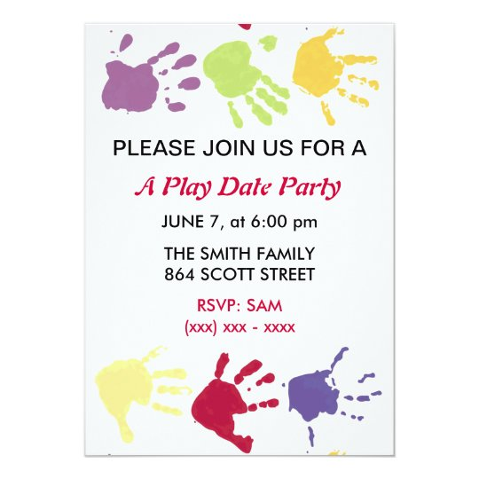 A Play Date Party Kids Invitation