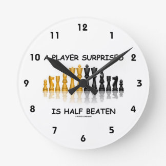 A Player Surprised Is Half Beaten Chess Attitude Clocks