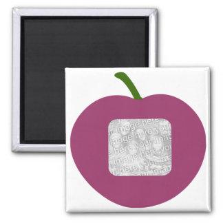 A Plum frame template magnet