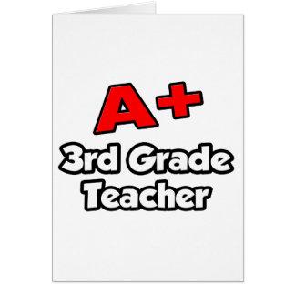 A Plus 3rd Grade Teacher Greeting Cards