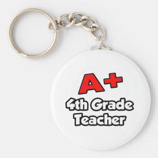 A Plus 4th Grade Teacher Key Chain