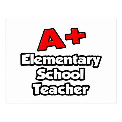 A Plus Elementary School Teacher Postcards