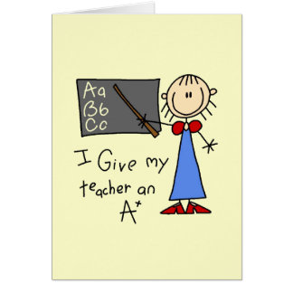 A Plus Teacher Card