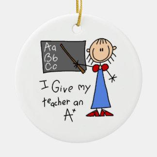 A Plus Teacher Christmas Ornament