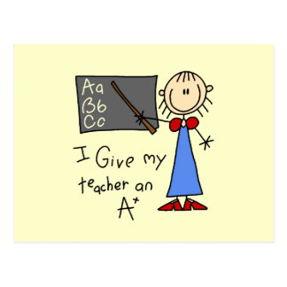 A Plus Teacher Postcard