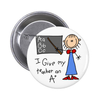 A Plus Teacher Tshirts and Gifts 6 Cm Round Badge