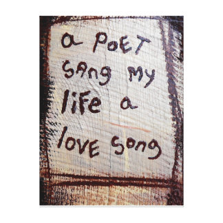 a poets love song stretched canvas print