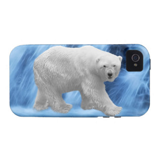 A polar Bear at the frozen waterfall iPhone 4/4S Covers