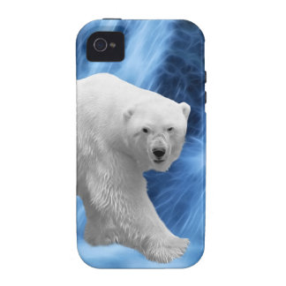 A polar Bear at the frozen waterfall iPhone 4 Case