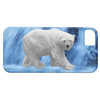 A polar Bear at the frozen waterfall Case For The iPhone 5