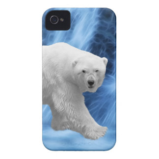 A polar Bear at the frozen waterfall iPhone 4 Covers