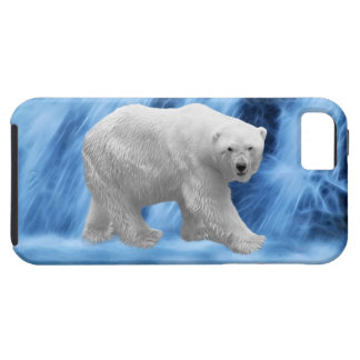 A polar Bear at the frozen waterfall iPhone 5 Cases