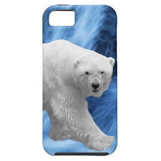 A polar Bear at the frozen waterfall iPhone 5 Covers