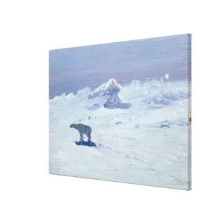 A Polar Bear Hunting in Moonlit Night, 1899 Gallery Wrapped Canvas
