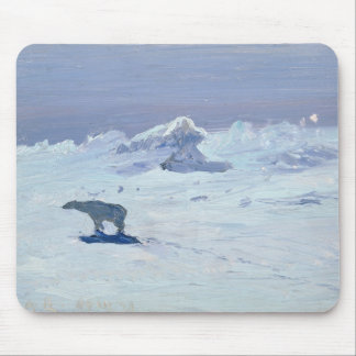 A Polar Bear Hunting in Moonlit Night, 1899 Mouse Pad