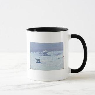 A Polar Bear Hunting in Moonlit Night, 1899 Mug