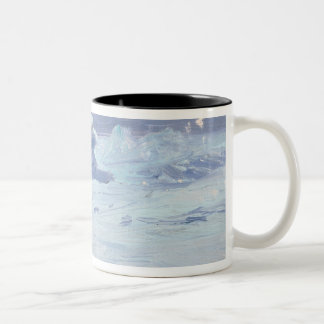 A Polar Bear Hunting in Moonlit Night, 1899 Two-Tone Coffee Mug