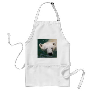 A polar bear just chilling aprons