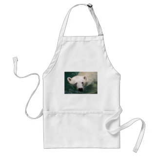 A polar bear just chilling apron