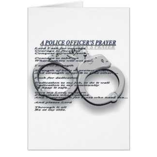 A POLICE OFFICER'S PRAYER GREETING CARD