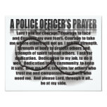 A POLICE OFFICER'S PRAYER PERSONALIZED ANNOUNCEMENTS