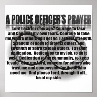 A POLICE OFFICER'S PRAYER POSTER