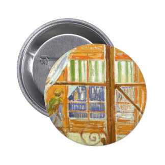 A Pork Butcher's Shop Window by Vincent van Gogh 6 Cm Round Badge
