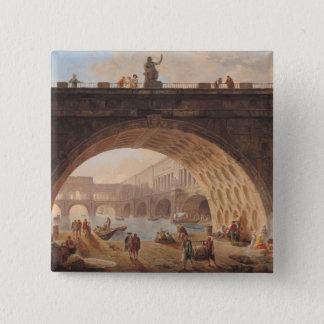A Port, c.1760 15 Cm Square Badge