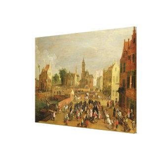 A Port Canvas Print