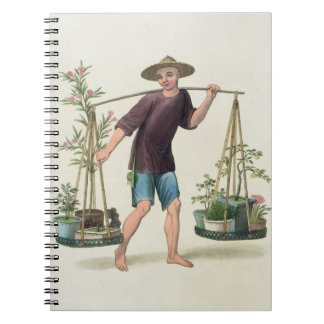 A Porter with Fruit Trees and Flowers, plate 16 fr Notebook