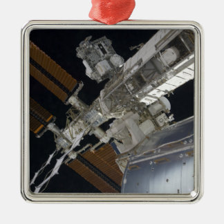 A portion of the International Space Station 3 Christmas Ornament