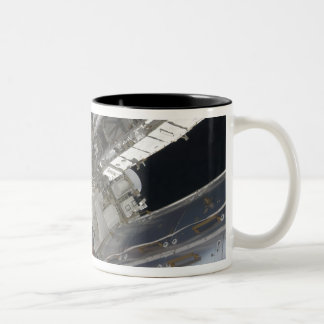 A portion of the International Space Station 3 Two-Tone Coffee Mug